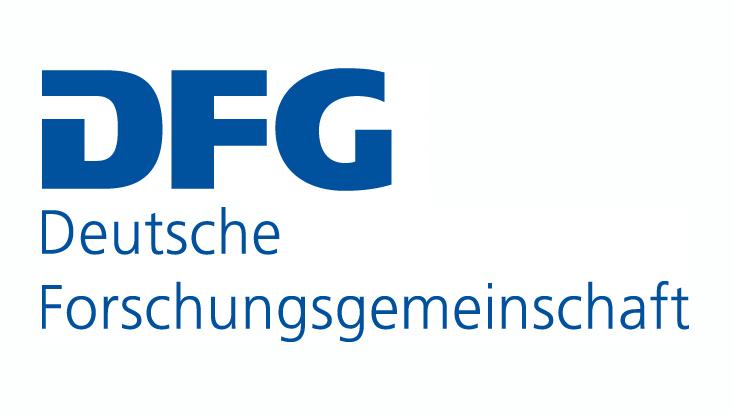 Die Abbildung zeigt das Logo der Deutschen Forschungsgemeinschaft.